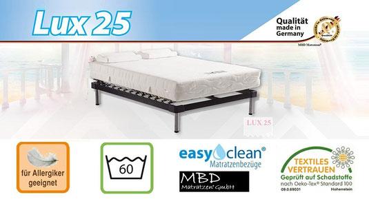 sparen sie bis zu 75 g nstige preiswert xxl 25 cm hohe 7 zonen kaltschaummatratze von mbd. Black Bedroom Furniture Sets. Home Design Ideas