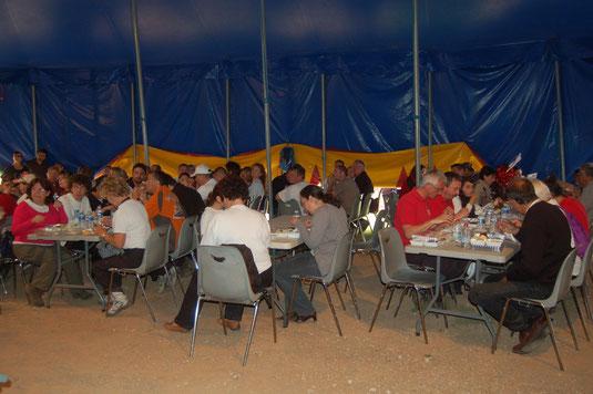 Gonfaron, Nature, Open 2014, repas du dimanche midi