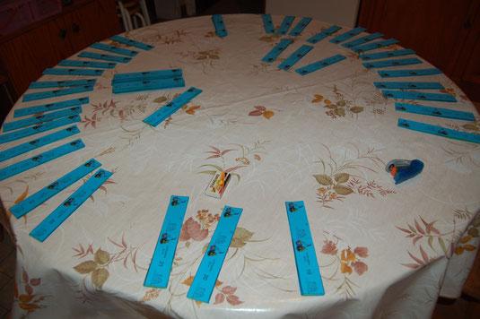 Une table ronde, et c'est parti pour faire le tour 20 fois.