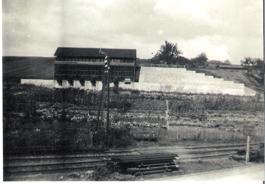 """Erzverladebunker am Steinberg, """"Grube Narvik"""" Anfang der 40er Jahre"""
