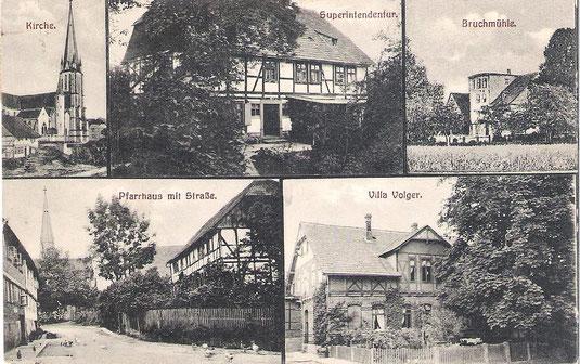 Postkarte mit Stempel vom 21.01.1921