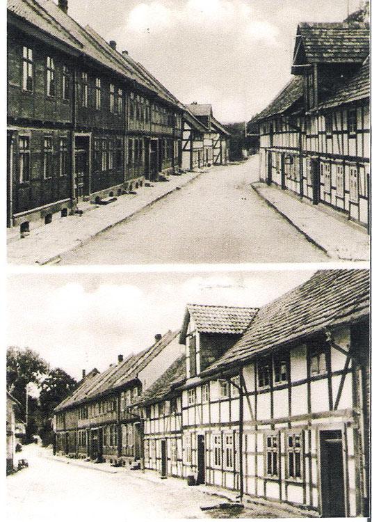 Die Große Dreckstraße in Oldendorf (heute August-Düker-Straße)
