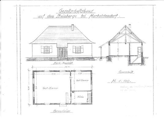 Planung und Bau-Zeichnung