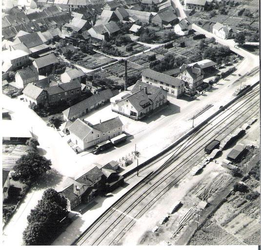 Bahnhof und Molkerei in den 50ern
