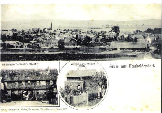Postkarte von Markoldendorf um 1900