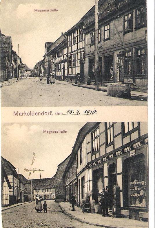 Blick in die Magnusstraße um 1910
