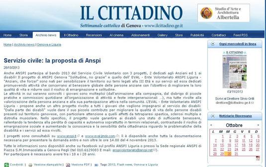 """da """"IL CITTADINO"""", 28/10/2013"""