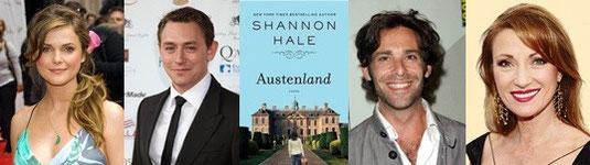 """Keri Russell, JJ Feild, James Callis et Jane Seymour au casting de """"Austenland""""."""