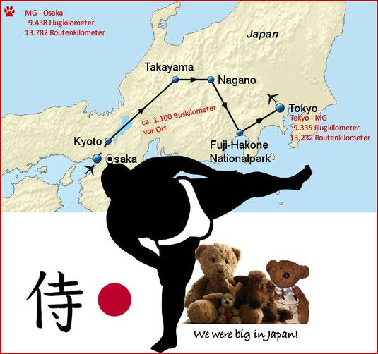 Kasimir, Cäsar, Fredi und Kerl besuchen Japan