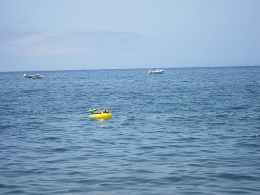 Kasimir, Cäsar und Fredi im Atlantischen Ozean vor La Gomera