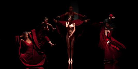Tanzgruppe 2, Bilder von Marcus Löhrer auf der Aachener Kunstroute 2017