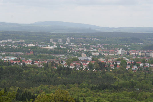 Kaiserslautern vom Humbergturm aus