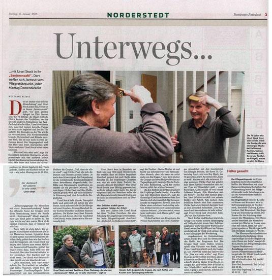 Norderstedter Zeitung vom 11.01.2013