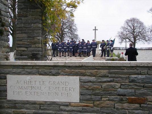 Visite des cadets de la RAF 11 novembre