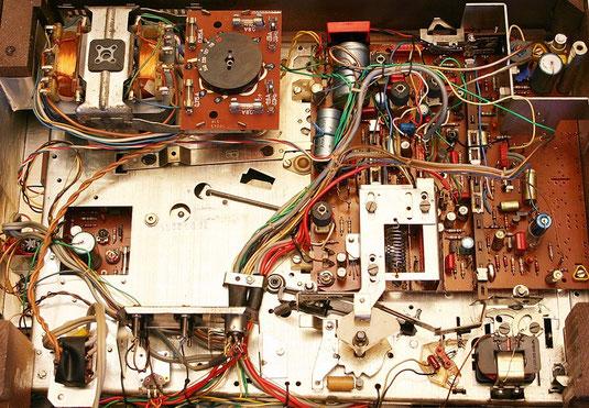 Innenleben eines Tonbandgerätes