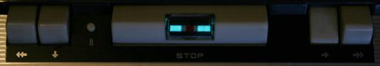 Magisches Band in einem Tonbandgerät