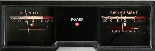 Aussteuerungsinstrumente an einem Kassettenrekorder