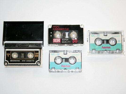 Mini- und Mikrokassetten für Diktiergeräte
