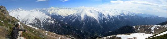 La chaîne des montagnes Kaçkar (cliquer pour agrandir, sans condition!)