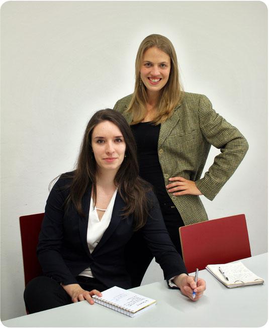 Dolmetscherinnen. Die Leistungen umfassen konsekutive und simultane Verdolmetschungen sowie Flüsterdolmetschen.