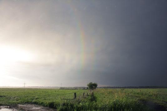 Arco-íris terciário e quaternário. Foto de Michael Grossman e Michael Theusner.