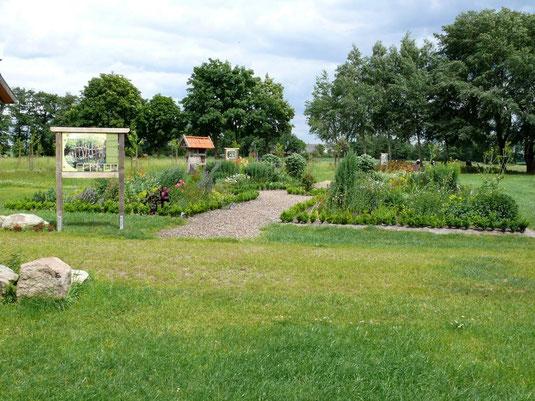 Der von den Bürgern angelegte und gepflegte Bauerngarten ist einen Besuch wert.