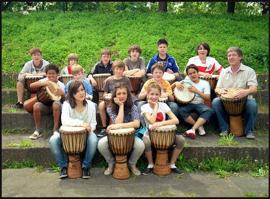 Trommelgruppe Schillerschule Brkh.