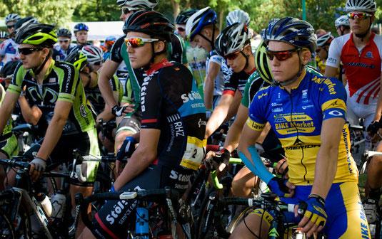 Volle Konzentration von Tobias Tetzlaff vor dem Rennen