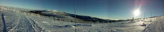 Winterzauber an der Schneekoppe in Tschechien - ein Skilanglaufgebiet mit vielen Höhenmetern