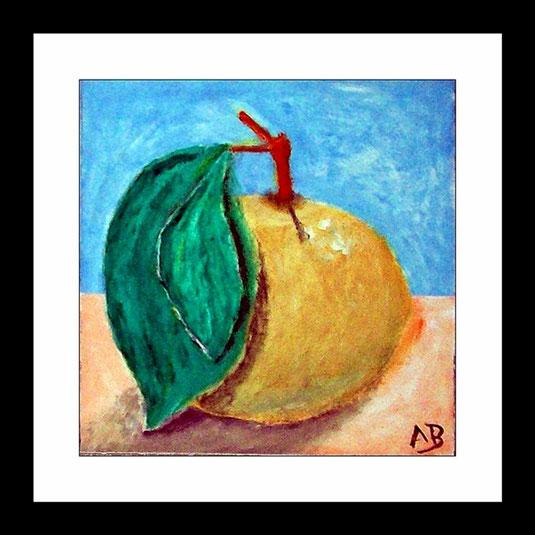 Stilleben mit grün-gelben-Apfel-Ölmalerei