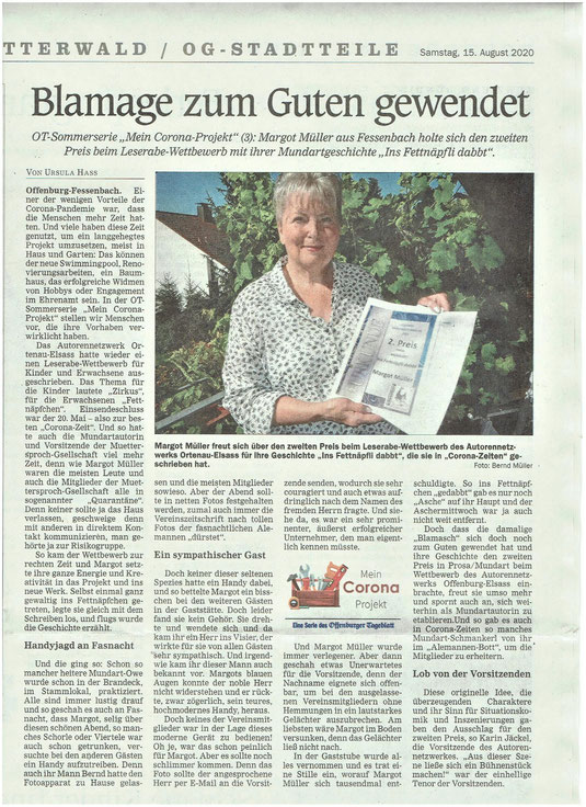 Offenburger Tageblatt, Samstag, 15. August 2020