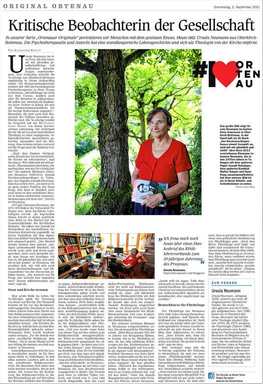 Mittelbadische Presse, Original Ortenau, 2. September 2021