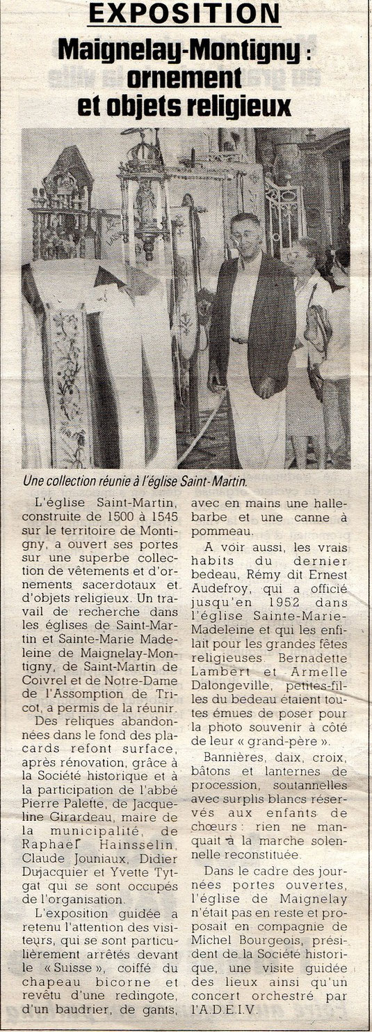 Le Courrier Picard du 25 septembre 1997