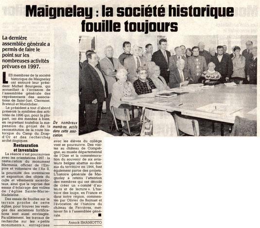 Le Courrier Picard du 19 février 1997