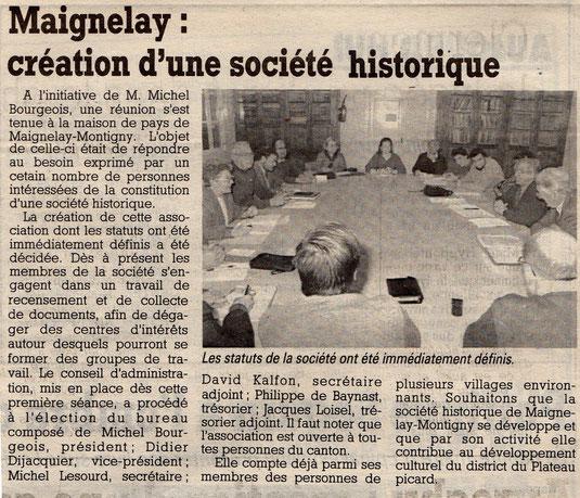Le Courrier Picard du 25 janvier 1991