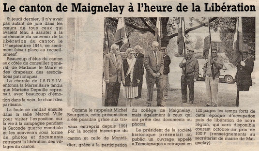 Le Courrier Picard du 12 septembre 1994