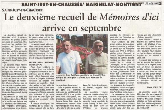 Oise Hebdo du 26 août 2009