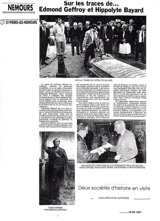 L'Eclaireur du Gâtinais du 18 septembre 1997