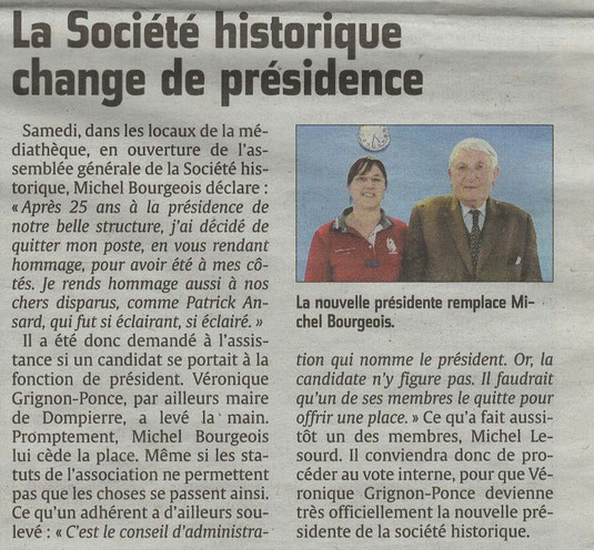 Le Courrier picard du 25 avril 2016