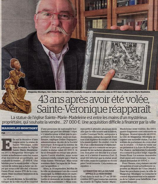 Le Parisien, édition de l'Oise du 5 octobre 2016