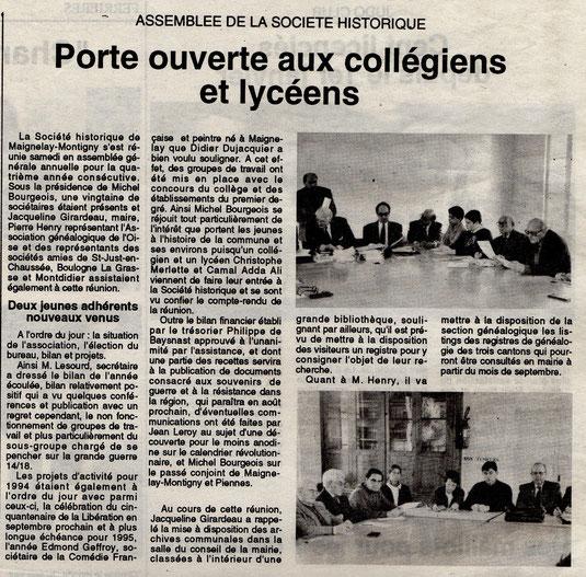 Le Bonhomme picard du 4 mars 1994