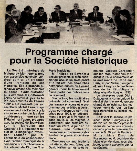 Le Bonhomme picard du 12 mars 1993