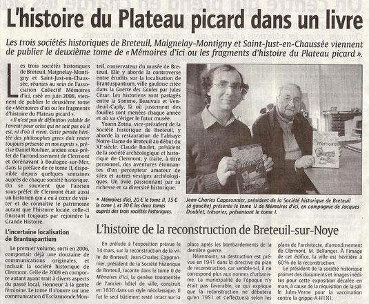 Courrier Picard du 11 novembre 2009