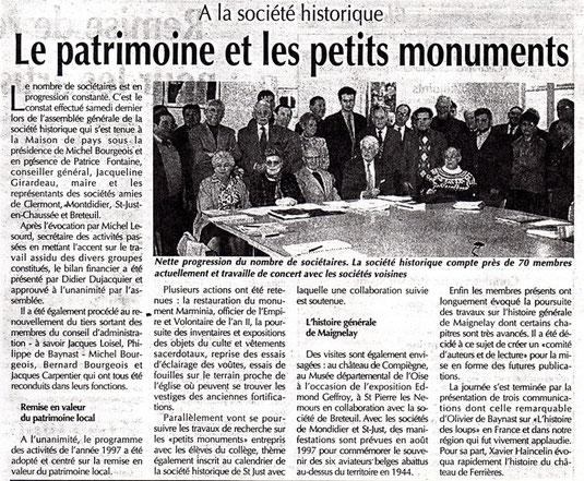 Le Bonhomme Picard du 29 janvier 1997