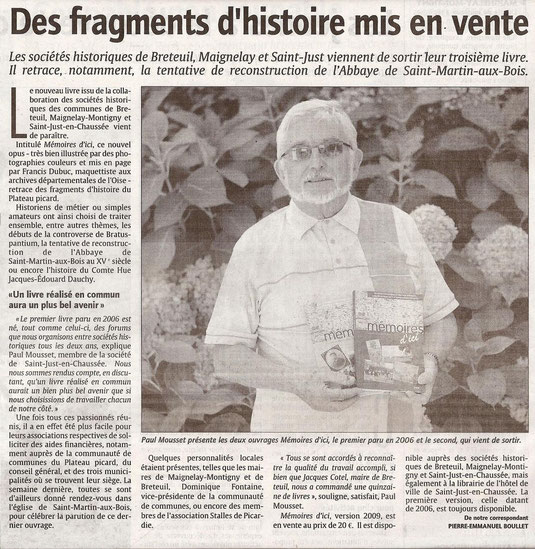 Courrier Picard du 30 septembre 2009