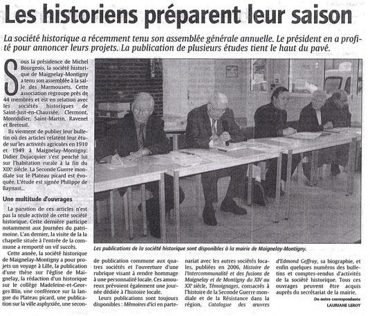 Le Courrier Picard du 28 mars 2007