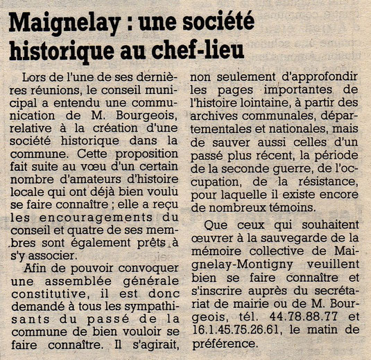Le Courrier Picard du 10 octobre 1990