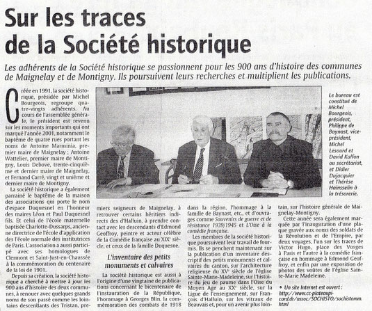 Le Courrier Picard du 15 avril 2002