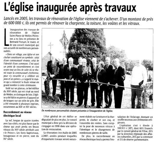 Le Courrier picard du 21 septembre 2007