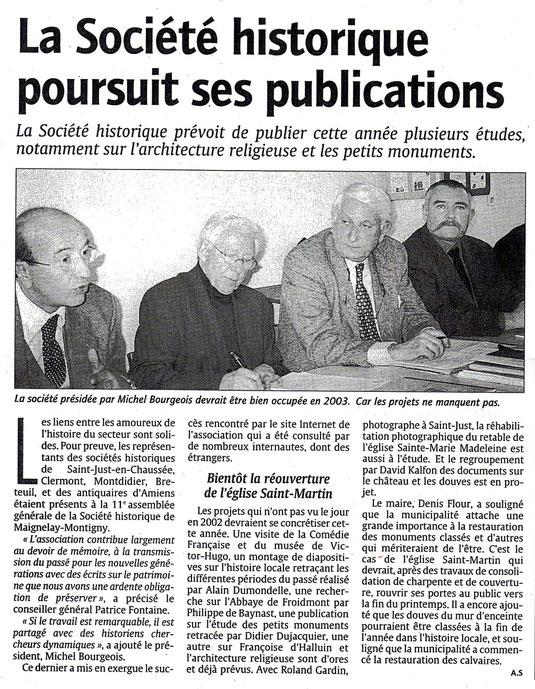 Le Courrier Picard du 22 février 2003